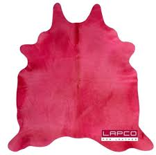 dyed cowhide rugs hot pink