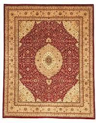 rug orange persian burnt
