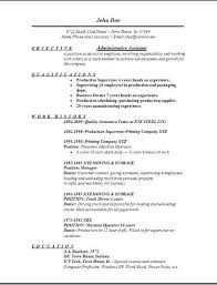 Resume Objective Office Assistant Great Administrative Assistant