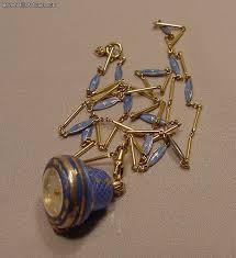 bucherer enamel silver gilt necklace