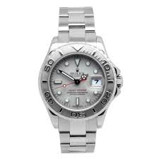 pre owned rolex watches beaverbrooks the jewellers rolex yachtmaster platinum and steel automatic ladies watch