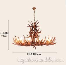 12 cast deer antler chandelier candelabra pendant lights rustic lighting fixtures for farmhouse log cabin kitchen