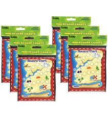 Treasure Chart 6 Treasure Hunt Mini Reward Charts 36 Per Pack 6 Packs