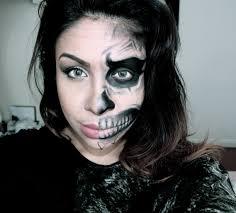 women skeleton makeup how to half human half skull face makeup tutorial you