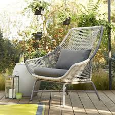 Image Jardine View In Gallery Allweather Cord Lounge Chair From West Elm Decoist Outdoor Seating Solutions For Spring