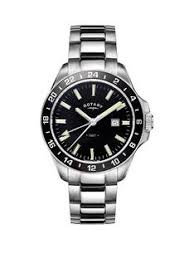 rotary mens watches gifts jewellery very co uk rotary rotary havana black dial stainless steel bracelet mens watch