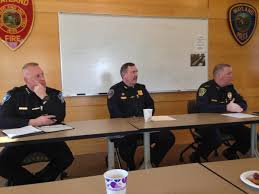 local police chiefs speak to the sudbury wayland lincoln domestic violence roundtable about the importance of community police partnerships to address
