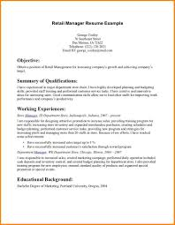 8 Resume Examples For Retail Happy Tots