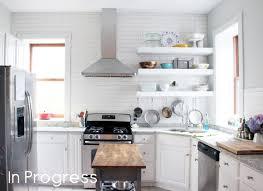 open floating shelves