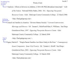 Example In Essays Mla In Text Citations Works Cited Pages