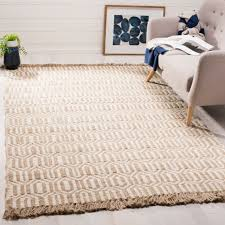 safavieh hand woven natural fiber natural ivory jute rug 6 x 9