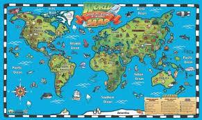 Kids World Map Interactive Wall Chart