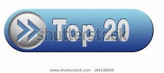 20 Chart Music Top 20 Charts List Pop Poll Stock Illustration 164149556