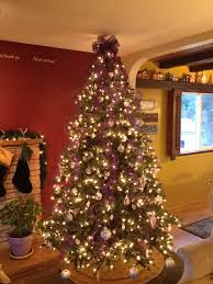 Gold Tree Lights I Did Purple Gold And Silver Ornaments White Lights And