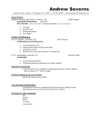 Sample Resume For Lawn Care Worker