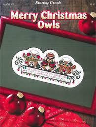Amazon Com Merry Christmas Owls Cross Stitch Chart And Free
