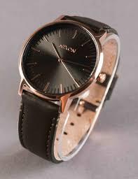 nixon porter leather watch rose gold metal surplus