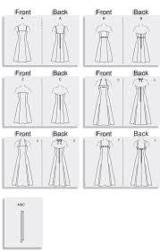 A Line Dress Pattern Simple Vogue Patterns 48 MISSES'MISSES' PETITE DRESS