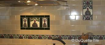 Arts And Crafts Decorative Tiles DuQuellaTile Handcrafted decorative tiles in Arts and Crafts Art 7