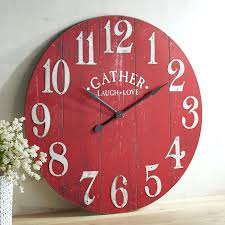 wall clocks pictures of wall clock oversize red gather pier 1 save this item to