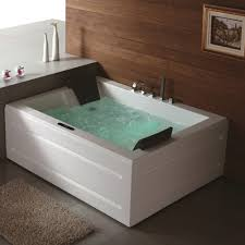 ... Bathtubs Idea, Whirlpool Bathtubs Lowes Bathtubs Rectangular Whirpool  Jacuzzi For Two Persons Designed With Built ...