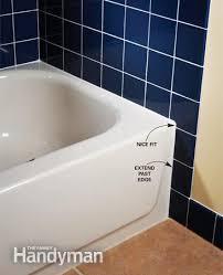 extend tile beyond tub edge