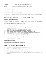 Golf Professional Resume Example Golf Professional Resume Example College Golf Resume Template Best 1