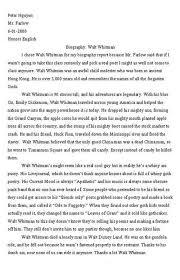 some college essays written by peter nguyen album on ur biography walt whitman
