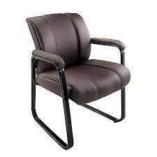 guest chair. Brenton Studio Bellanca Guest Chair BrownBlack Office Depot