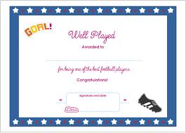Award Certificate Football Printable Award Certificate Lottie Dolls 5