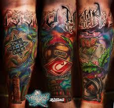 фото татуировки спартак в стиле авторский нео традишнл нью скул