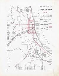 Steam railway maps of chicago 18481910