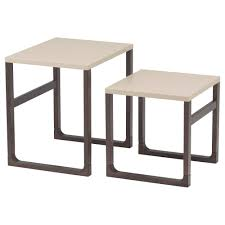 RISSNA nesting tables, set of 2, beige