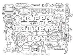 Small Picture Fathers Day Adult Coloring Page