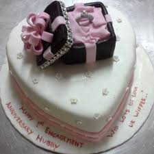 Engagement Celebration Cake Online Miras Dial A Cake Bangalore