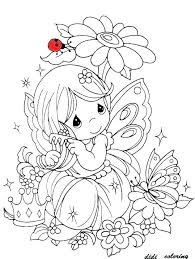 Free Coloring Pages Flowers And Butterflies Printable P