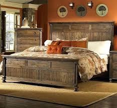 Bedroom Queen Size Log Bed Cabin Sets Rustic Wooden Frames White ...