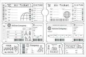 Airline Ticket Template Word Impressive Mock Airline Ticket Template Skincenseco