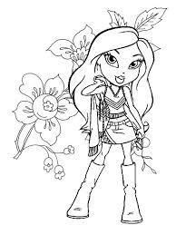 Small Picture flowerandbratzcoloringpagesjpg 600800 fashion coloring