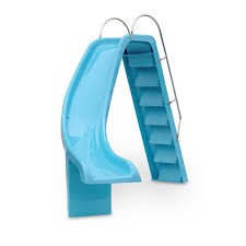curved slide left hand curved slide blue pool slides water technics