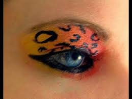 scene makeup for blue eyes neon cheetah makeup tutorial