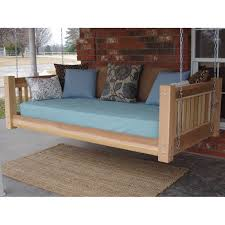 hanging daybed swing.  Hanging Tang Cedar Traditional Style Hanging Daybed Swing And G