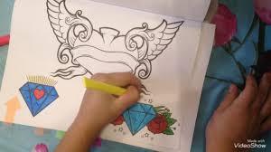 раскрашиваем вместе раскраска татуировки Chancery Lav