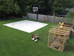 diy backyard basketball court. Unique Diy Backyard Basketball On A Concrete Slab Well Done Throughout Diy Basketball Court