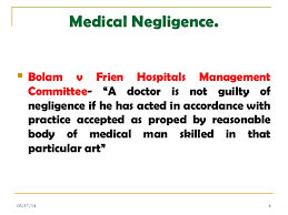 medical negligence and law medical negligence