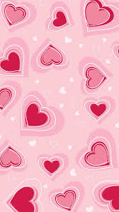 pink heart wallpapers really cute