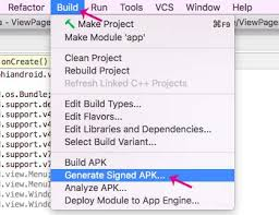 how to generate signed apk in android