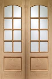 park lane internal oak french doors