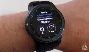 samsung watch s3. the gear s3 frontier feels a lot larger \u2013 and more deliberately masculine compared to samsung watch
