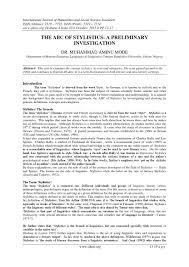 the abc of stylistics a preliminary investigation by invention the abc of stylistics a preliminary investigation by invention journals issuu